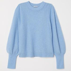H&M Blue mohair sweater.